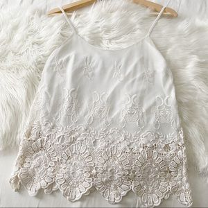 Vintage Forever21 • White Lace Tank